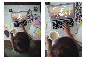 Graphic Designer Using Laptop