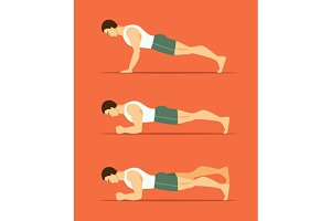 man in a plank posture