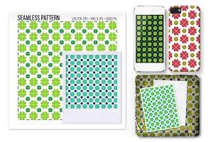 Seamless Shamrock clover pattern.