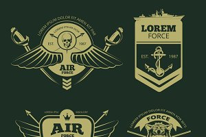 Color military patches