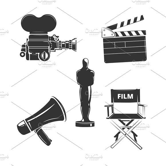 Vector Elements For Retro Cinema