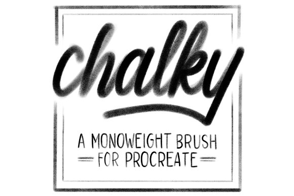 Chalky Brush For Procreate
