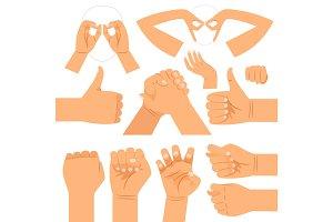 Funny hand gestures set
