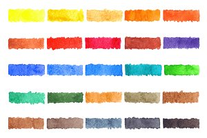 Watercolor abstract colorful palette