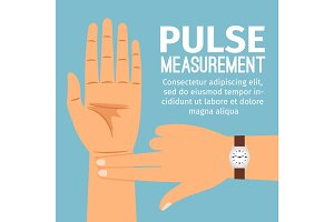 Pulse measurement illustration for medical poster