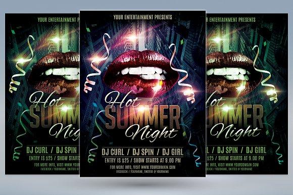 Hot Summer Night Flyer-Graphicriver中文最全的素材分享平台