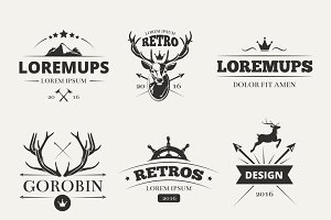 Hipster labels set