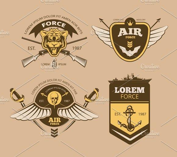 Desert Military Vintage Vector Logos