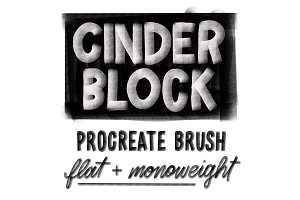 Cinder Block Brush for Procreate