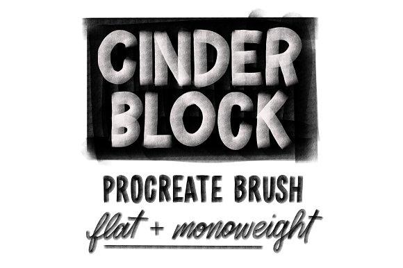 Cinder Block Brush For Procreate