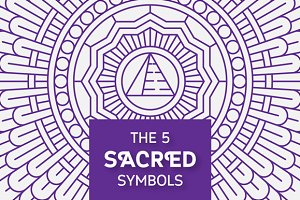 Set of Sacred Symbols and Patterns