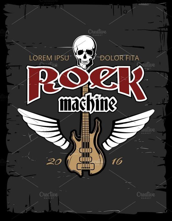 Vintage Hard Rock Poster