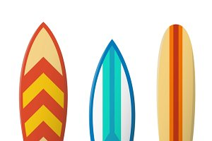 Color surfboard set
