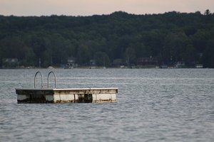 Lonely Swim Dock