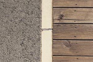 Wooden boardwalk & Gravel