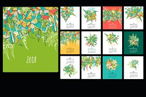 2018 calendar with lilies.