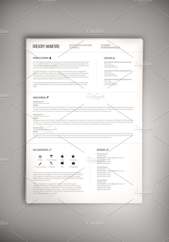 the professional cv psd word doc resumes - Word Doc Resume Templates