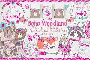 Boho woodland designers set