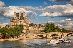 Louvre Museum and Pont Royal