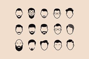 15 Abstract Male Icons