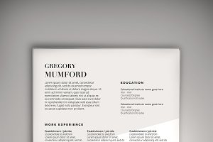 Flex CV (DOC + PSD) + Business Card