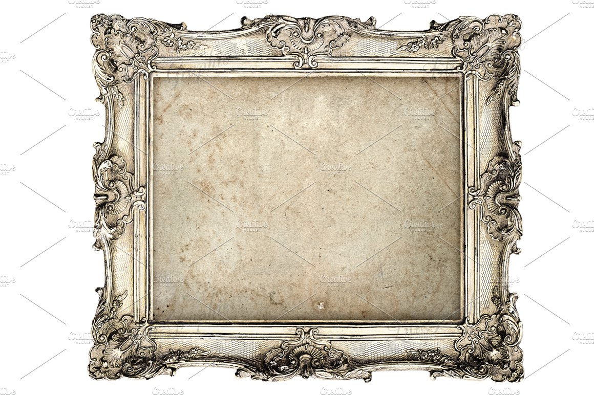 Baroque picture frame objects creative market for What to do with empty picture frames