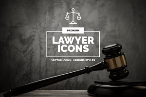 10 Lawyer & Justice Icons - 3 styles