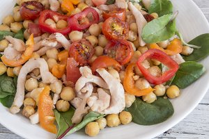 Salad of chickpeas