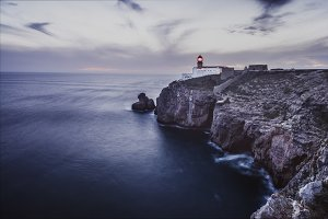 Lighthouse. Atlantic coast, Portugal