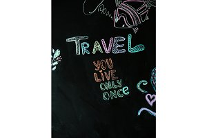 Travel chalk inscription