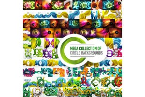 Mega collection of vector abstract circle backgrounds