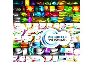 Mega collection of vector abstract wave backgrounds