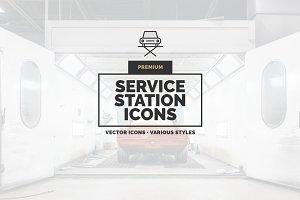 Premium »Service Station« Icons