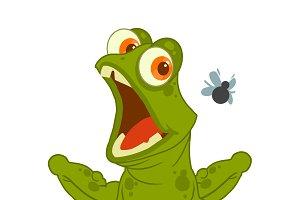 Frog vector character