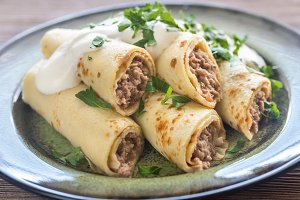 Crepes with tuna