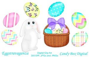 Eggstravaganza Easter Clip Art