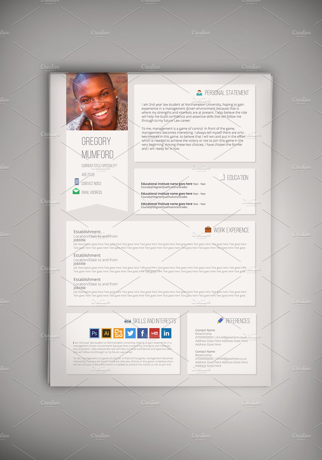 First Resume Template Pdf  Tips For Designing The Perfect Resume  Creative Market Blog Great Skills For A Resume Excel with Resume Development Word Social Media Cv Career Transition Resume Excel