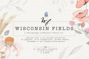 Wisconsin Fields - Watercolor Set