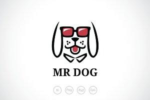 Mr Dog Logo Template