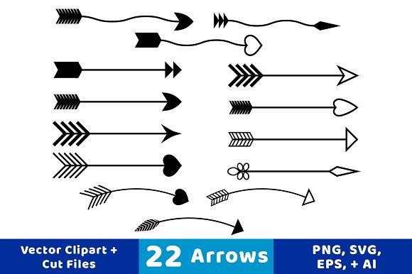 22 Arrows Vector Clipart