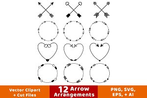 12 Arrow Arrangements
