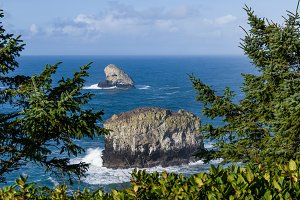 Pyramid Rock and Pillar Rock off Cape Meares Oregon