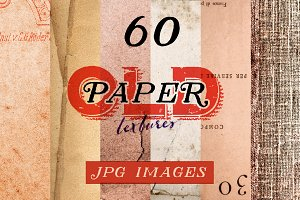 60 Old Paper Backgrounds + free demo
