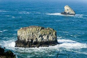 Pyramid Rock and Pillar Rock off Cape Meares Oregon