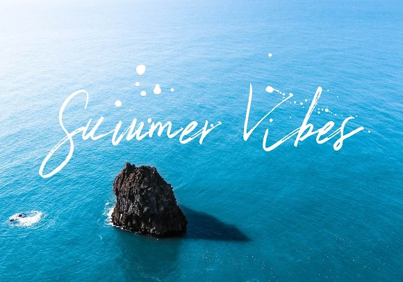 Summer Vibes Typeface