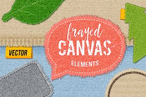 Frayed Canvas Vector Elements
