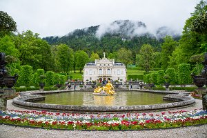 Linderhof Palace in Bavaria Germany, one of the castles of former king Ludwig II