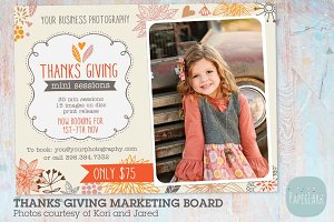 IW008 Thanks Giving Marketing Board