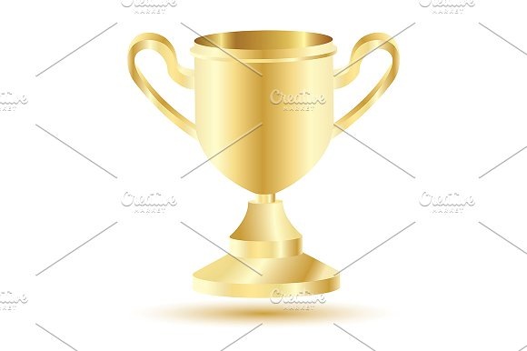 Golden Winner Cup Isolated