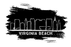 Virginia Beach Skyline Silhouette.